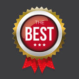 The Best gold badge vector Royalty Free Stock Image