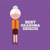 Best grandma design Royalty Free Stock Image