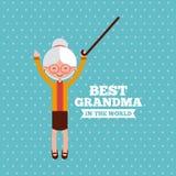 Best grandma design Royalty Free Stock Photography