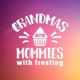 Best grandma handwritten in white Royalty Free Stock Photography