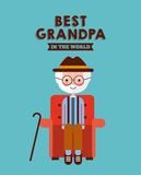Best grandpa card Royalty Free Stock Photos