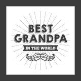 Best grandpa design Royalty Free Stock Photography