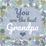 Best Grandpa Message Greeting Card Royalty Free Stock Images
