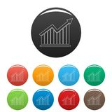 Best graph icons color set. Isolated on white background for any web design Royalty Free Stock Image
