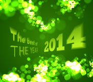 The best of the 2014 on green bokeh background Royalty Free Stock Photography