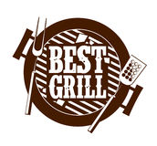 Best grill icon. Stock Images