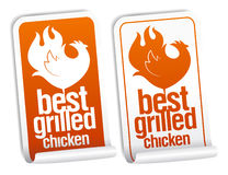 Best grilled chicken stickers. Stock Image