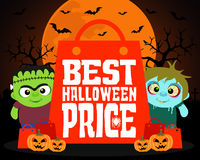 Best Halloween price design background Royalty Free Stock Photography