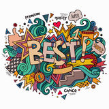 Best hand lettering and doodles elements Stock Photography
