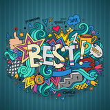 Best hand lettering and doodles elements Royalty Free Stock Photos