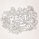 Best hand lettering and doodles elements Stock Image