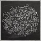 Best hand lettering and doodles elements Royalty Free Stock Image