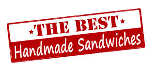 The best handmade sandwiches. Rubber stamp with text the best handmade sandwiches inside,  illustration Stock Image