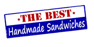 The best handmade sandwiches. Rubber stamp with text the best handmade sandwiches inside,  illustration Royalty Free Stock Photography