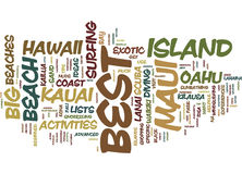 Best Of Hawaii Itinerary Ideas For The Traveler Word Cloud Concept. Best Of Hawaii Itinerary Ideas For The Traveler Text Background Word Cloud Concept royalty free illustration