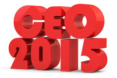 Best head of 2015. Red inscription of CEO for 2015 Royalty Free Stock Image