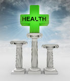 Best health care concept with flare in sky Royalty Free Stock Images
