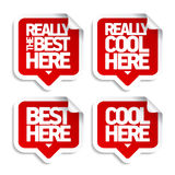 The best here stickers Royalty Free Stock Photography
