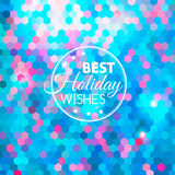 Best holiday abstract blue background. Best winter holiday abstract blue geometric shining background stock illustration