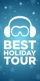 Best holiday tour on blue background Royalty Free Stock Photo