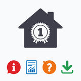Best home. First place award icon Royalty Free Stock Photo