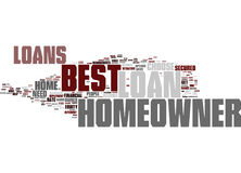 Best Homeowner Loans Perfect Package For Homeowners Word Cloud Concept. Best Homeowner Loans Perfect Package For Homeowners Text Background Word Cloud Concept Royalty Free Stock Photos