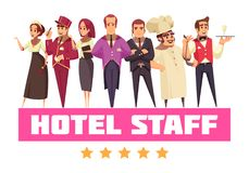 Free Best Hotel Team Background Royalty Free Stock Images - 123501409