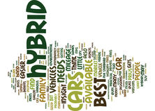 Best Hybrid Cars Word Cloud Concept Stock Photos