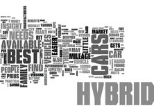 Best Hybrid Cars Word Cloud Royalty Free Stock Photos