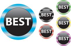 Best icon. Label button choice quality symbol Stock Images