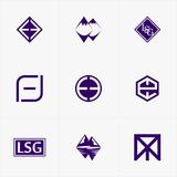 The best icon logo set for your business. For your Business Royalty Free Stock Photography