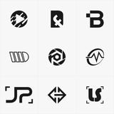 the best icon logo set for your business Royalty Free Stock Photo