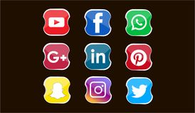Best icon for social media vector illustration