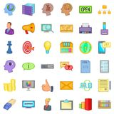Best idea icons set, cartoon style Royalty Free Stock Photos