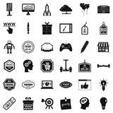 Best idea icons set, simple style Stock Photography