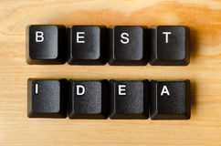 Best idea words Stock Images