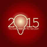 2015 best ideas. The best ideas in new yaer! card vector format Stock Images