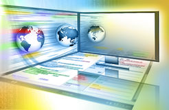 Best Internet Concept of global business from conc Royalty Free Stock Photos