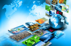 Best Internet Concept of global business from concepts series. Television and internet production technology concept Royalty Free Stock Image