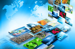 Best Internet Concept of global business from concepts series. Television and internet production technology concept Royalty Free Stock Photo