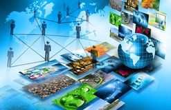 Best Internet Concept of global business from concepts series. Television and internet production technology concept Stock Photography