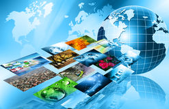 Best Internet Concept of global business from concepts series. Television and internet production technology concept Stock Image