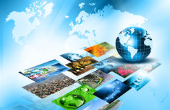 Best Internet Concept of global business from concepts series. Television and internet production technology concept Royalty Free Stock Photos
