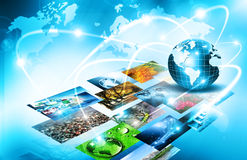 Best Internet Concept of global business from concepts series. Television and internet production technology concept Stock Photos