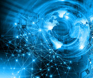 Best Internet Concept of global business. Globe Royalty Free Stock Images