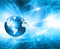 Best Internet Concept of global business. Globe Royalty Free Stock Photo