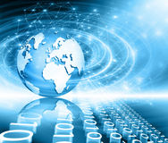 Best Internet Concept of global business. Globe Royalty Free Stock Photography