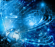 Best Internet Concept of global business. Globe Stock Photo