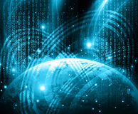 Best Internet Concept. Globe, glowing lines on Royalty Free Stock Photography