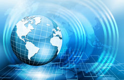 Best Internet Concept. Globe, glowing lines on Royalty Free Stock Photos
